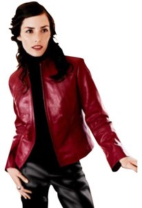 Siena Studio Red Leather Jacket