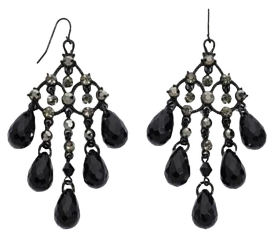 Mixit black crystal chandelier by statement earrings tradesy mixit black crystal chandelier earrings by mixit statement earrings mozeypictures Image collections