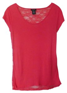 Rue 21 Rayon Lace Stretchy Top Salmon