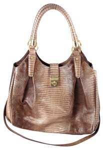 Brahmin Satchel Double Handle Snake Skin Shoulder Bag