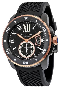 Cartier Cartier Calibre De Diver W2CA0004 Stainless Steel & Rose Watch (12149)