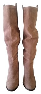 Vince Camuto Suede Knee High Boot Taupe Boots