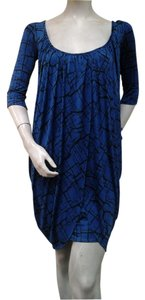 T-Bags Los Angeles short dress Blue Black Knit on Tradesy