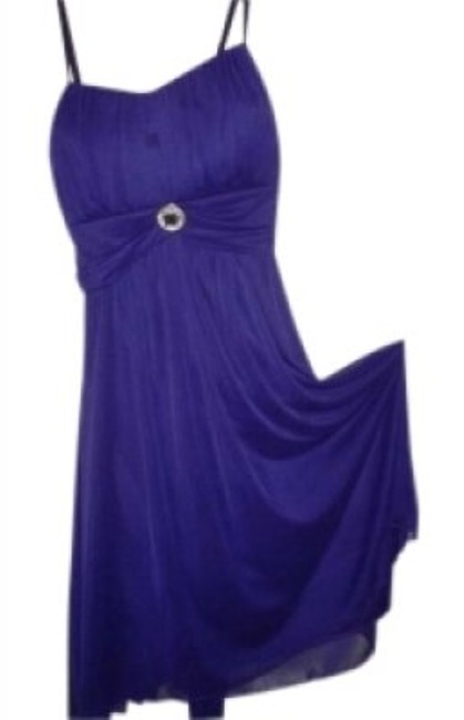 Preload https://item1.tradesy.com/images/ruby-rox-purple-chiffon-party-sparkly-rhinestone-at-center-of-sash-tie-knee-length-cocktail-dress-si-129585-0-0.jpg?width=400&height=650