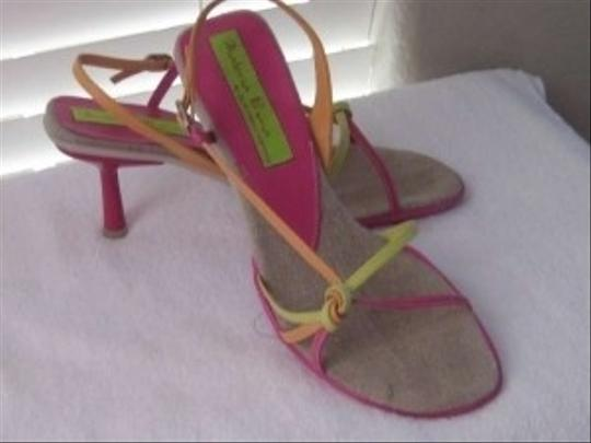 Materia Prima by Geofredo Fantini Pink, Green & Orange Sandals