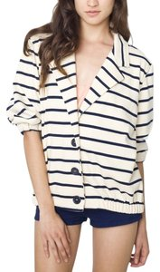 American Apparel Sailor Jacket Navy Striped Blazer