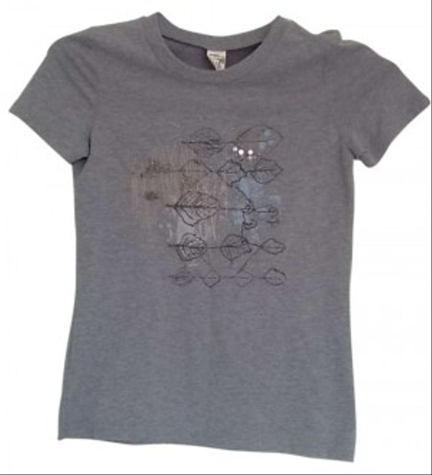Abercrombie Fitch And Embellished Tee T Shirt Gray 30