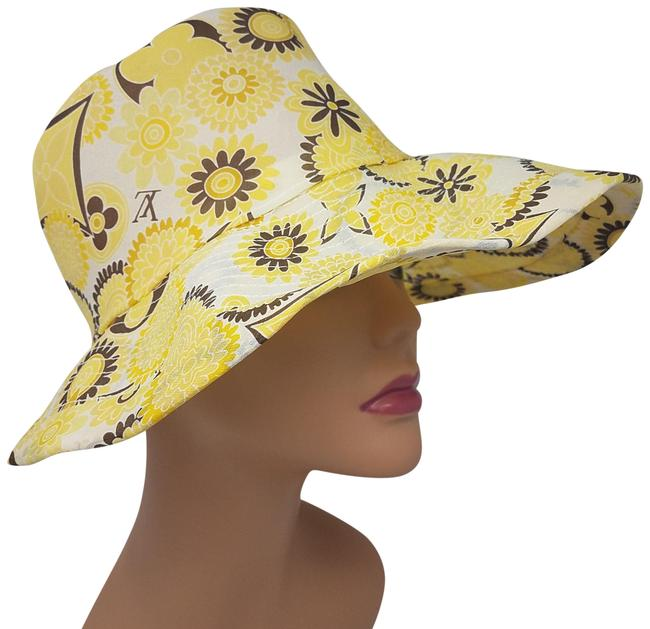 Item - Yellow Brown Multicolor Logo Floral Print Hat