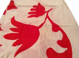 Other Red And White Cotton Pareo Scarf Matisse Like