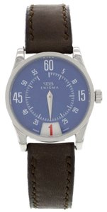 GB-Enigma Enigma by Gianni Bulgari 115201S Blue Dial & Brown Band Watch (7024)