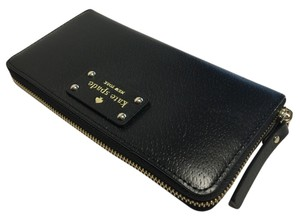 Kate Spade Kate Spade Wellesley Neda Clutch Wallet WLRU1153 Black/Black Leather