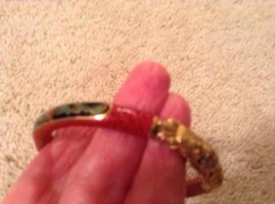 Other Cinnabar And Gold Enamel Chinese Bracelet