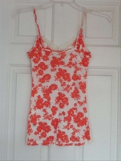 Guess Top Orange and white