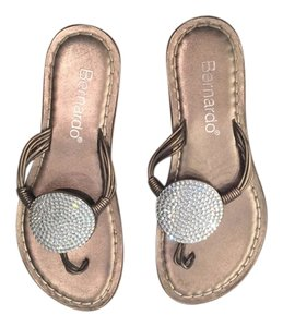 Bernardo Bronze Sandals