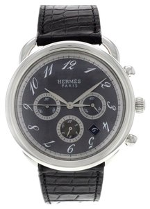 Hermès AUCTION Hermes AR4.910 Arceau Chronograph Stainless Steel Watch (6405)