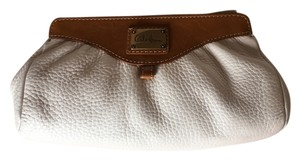 Cole Haan High Quality Brown Leather Creme Clutch