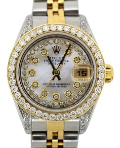 Rolex Ladies Datejust 2-tone 2.5ct Diamond Watch with Rolex Box & Appraisal