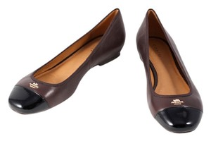Coach Samantha Patent Leather * Black/Brown Flats