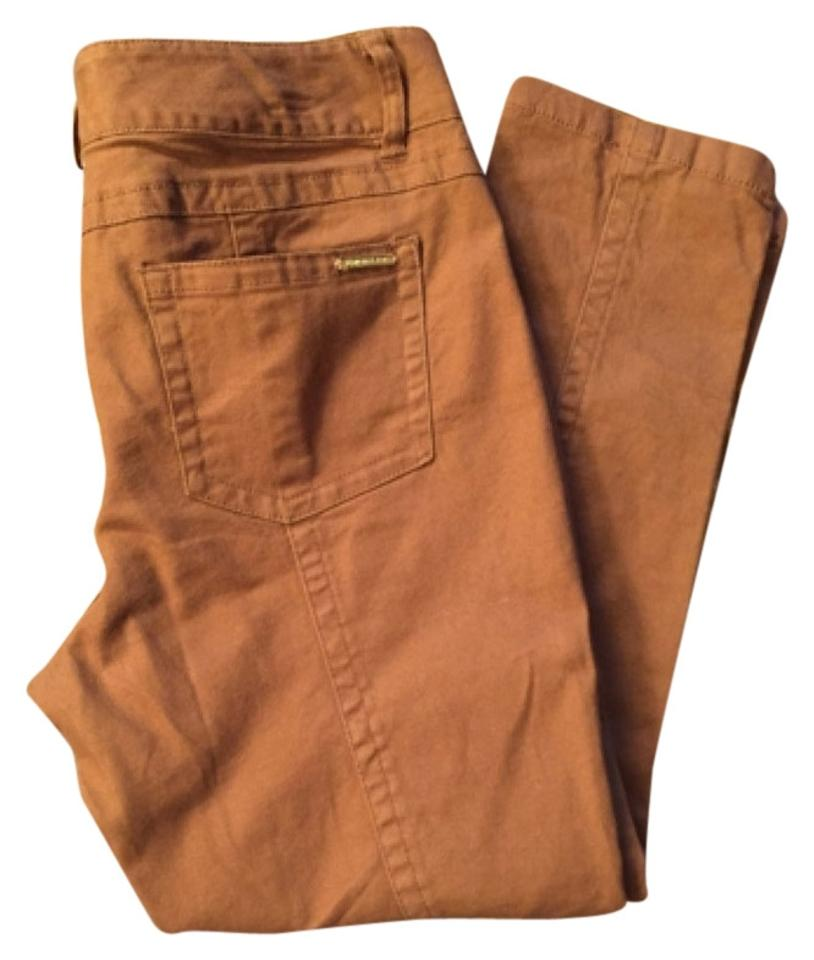 MICHAEL Michael Kors Rust Burnt Orange Skinny Jeans Size 33 (10 23f511550