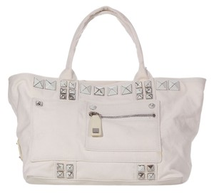 Marc Jacobs Studded Paint Off-white Tote
