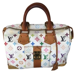 Louis Vuitton Satchel in White, Monogram