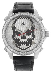 Jacob & Co. Jacob & Co. Black Band Five Time Zone Skull Dial 5.00Ct Watch (9195)
