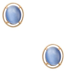 Kate Spade NEW kate spade New York Open Rim Studs in Blue 12k GP Gold Earrings