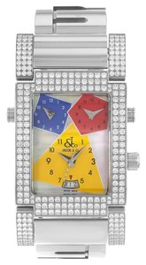 Jacob & Co. Jacob & Co. Capri JCO-57SS Factory Set Diamond Quartz Watch (9213)