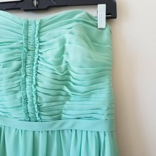 Alfred Angelo Sage (Light Green) Chiffon 7143 Feminine Bridesmaid/Mob Dress Size 4 (S)