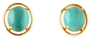Kate Spade NEW kate spade New York Open Rim Studs in Turquoise Aqua 12k GP Gold Earrings
