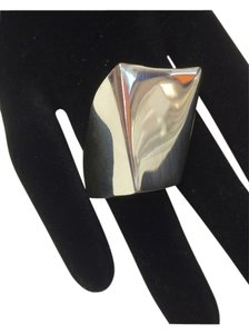 .925 Sterling Silver Solid Asymmetric Ring