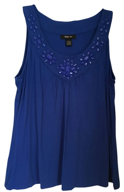 Preload https://img-static.tradesy.com/item/12962380/style-and-co-blue-blouse-size-12-l-0-1-650-650.jpg