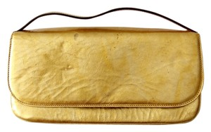 Dolce&Gabbana Patent Leather Gold Clutch