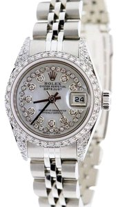 Rolex LADIES ROLEX S/S 26 MM DATEJUST DIAMOND WATCH