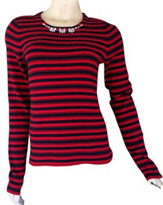 The Limited Striped Navy Blue Sweater
