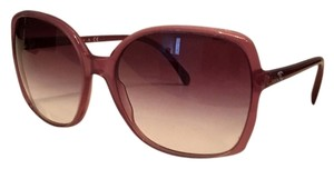 Chanel CHANEL Rounded Pink Sunglasses