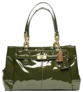 Coach Gold Hardware Patent Leather Shoulder Bag