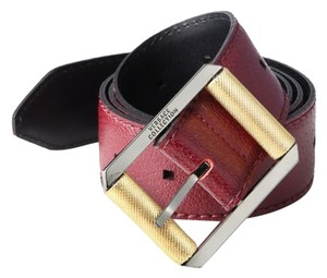 Versace Versace Collection Grained Leather Belt: MSRP $498