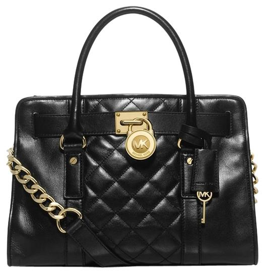 Preload https://item5.tradesy.com/images/michael-kors-limited-hamilton-18k-mk-quilted-black-leather-satchel-12963379-0-5.jpg?width=440&height=440