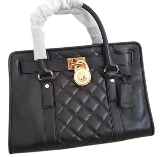 Michael Kors Limited Edition Quilted Leather Lock Satchel in Black