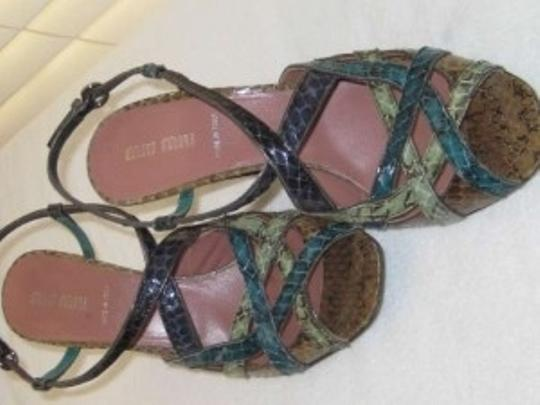 Miu Miu Multi colored greens Sandals