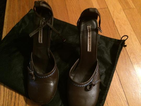 Tommy Hilfiger Brown & Blue Mules