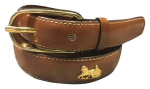 Céline Celine Paris Brown Leather Belt