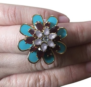 Kate Spade Multi Stone Flower Ring