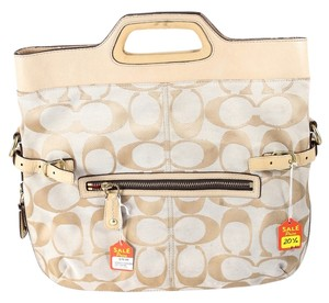 Coach Cc Canvas Tote in Beige