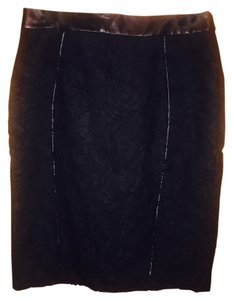 Ann Taylor Skirt Black/multi/lace