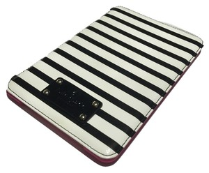 Kate Spade Kate Spade Wellesley Patent Stripe iPad Mini Slim Hard Case Folio WIRU0356 Black/Cream Stripes