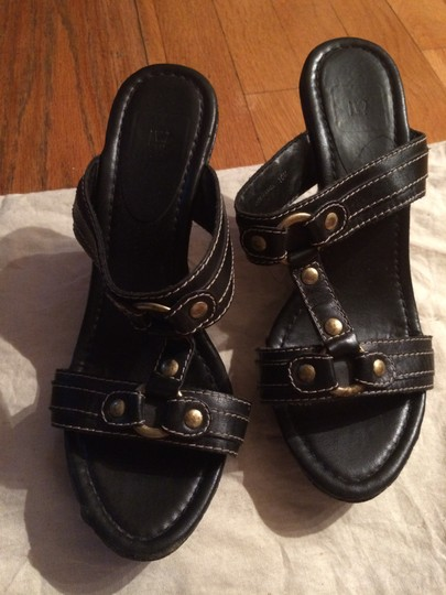 Made in Brazil Black & Gold Accent Platforms