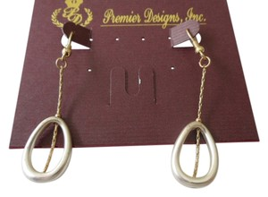 Premier Designs Beautiful Premier Designs LINKED Gold & Silver Tone Earrings Gorgeous Retired & HTF