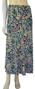 Emanuel Ungaro Silk Blend Skirt Multi-color